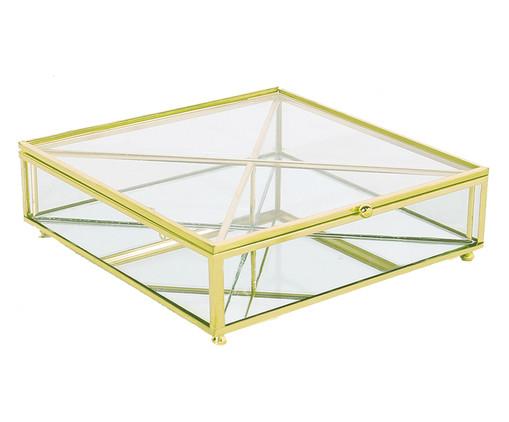Porta-Objetos Ben - Transparente e Dourado, Dourado, Transparente | WestwingNow