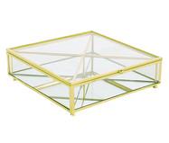 Porta-Objetos Ben - Transparente e Dourado | WestwingNow