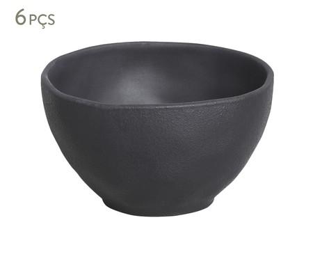 Jogo de Bowls em Cerâmica Orgânico - Preto Matte | WestwingNow