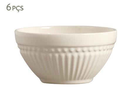 Jogo de Bowls em Cerâmica Roma Cru - 06 Pessoas | WestwingNow