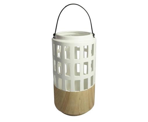 Lanterna Bina - Branca e Marrom, Branco, Bege | WestwingNow
