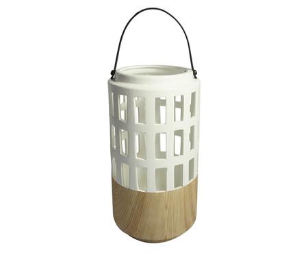 Lanterna Bina - Branca e Marrom | WestwingNow