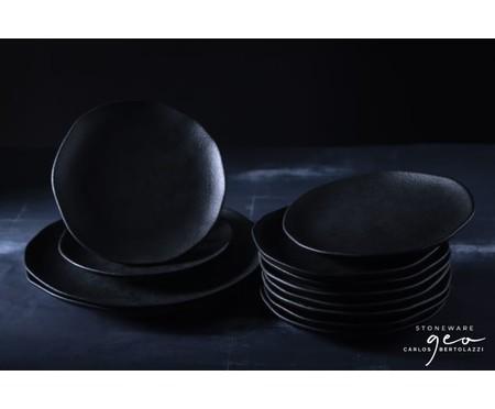 Jogo de Pratos Rasos em Cerâmica Orgânico 06 Pessoas - Carbon | WestwingNow