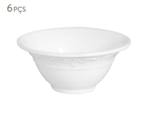 Jogo de Bowls em Cerâmica Acanthus Branco - 06 Pessoas, Branco | WestwingNow