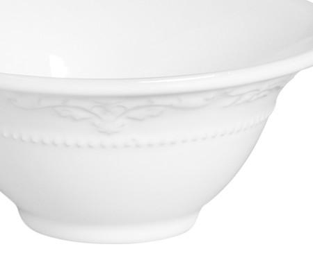 Jogo de Bowls em Cerâmica Acanthus Branco - 06 Pessoas | WestwingNow