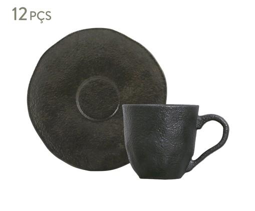 Jogo de Xícaras para Café em Cerâmica Orgânico Preto - 06 Pessoas, Preto | WestwingNow