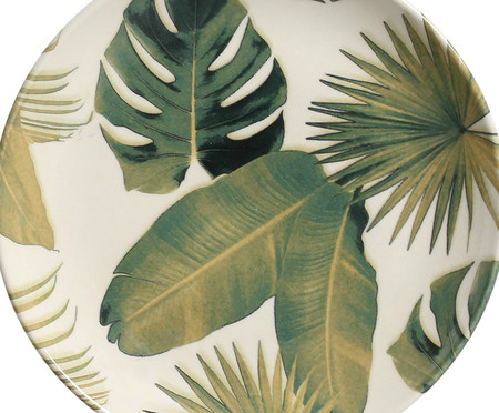 Jogo de Pratos para Sobremesa em Cerâmica Coup Foliage - 06 Pessoas | WestwingNow