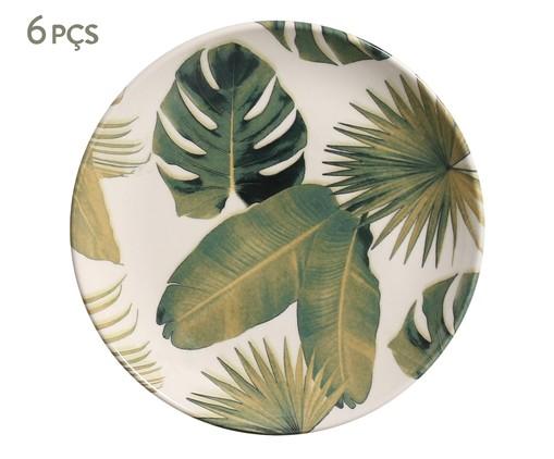 Jogo de Pratos para Sobremesa em Cerâmica Coup Foliage - 06 Pessoas, multicolor | WestwingNow