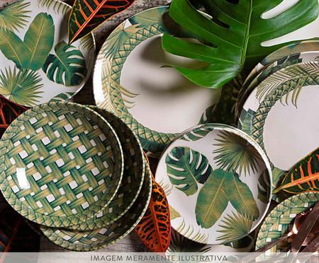 Jogo de Pratos Fundos em Cerâmica Coup Foliage - Colorido | WestwingNow