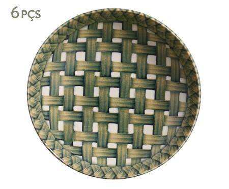 Jogo de Pratos Fundos em Cerâmica Coup Foliage - Colorido   WestwingNow