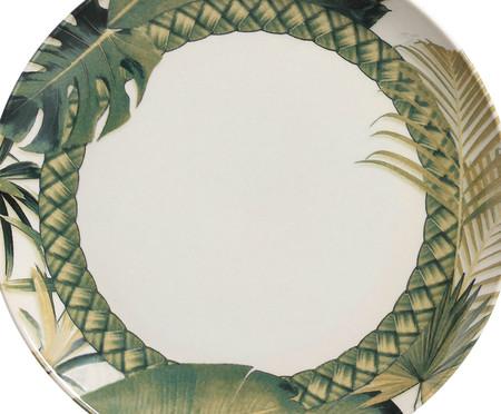 Jogo de Pratos Rasos em Cerâmica Coup Foliage 06 Pessoas - Estampado | WestwingNow