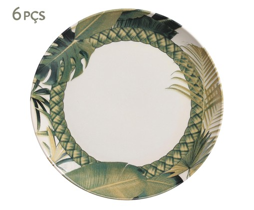 Jogo de Pratos Rasos Coup Foliage - 06 Pessoas, multicolor | WestwingNow