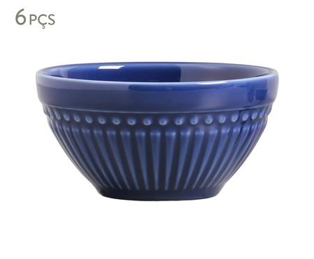 Jogo de Bowls de Cerâmica Roma - Azul Navy | WestwingNow