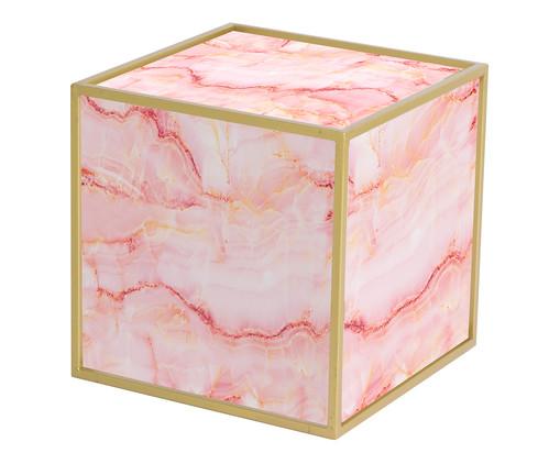 Mesa Lateral Edge - Trópico Rosa e Dourada, rosa,dourado | WestwingNow