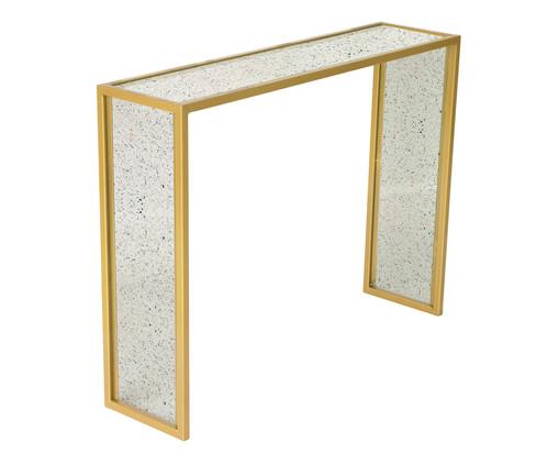 Aparador Edge - Terrazzo e Dourado, branco,dourado | WestwingNow