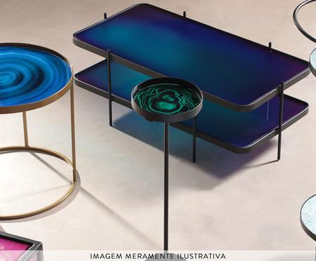 Mesa de Apoio Luna - Gradiente Azul e Preto   WestwingNow