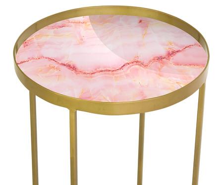 Mesa Lateral Lift - Trópico Rosa e Dourada | WestwingNow
