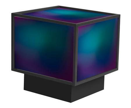 Mesa de Centro Edge - Gradiente Azul e Preta | WestwingNow