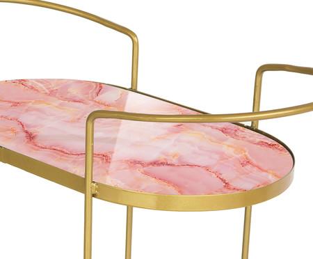 Carrinho de Bar Ada - Trópico Rosa e Dourado | WestwingNow
