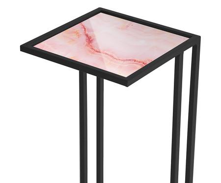 Mesa Lateral Gatsby - Trópico Rosa e Preta   WestwingNow
