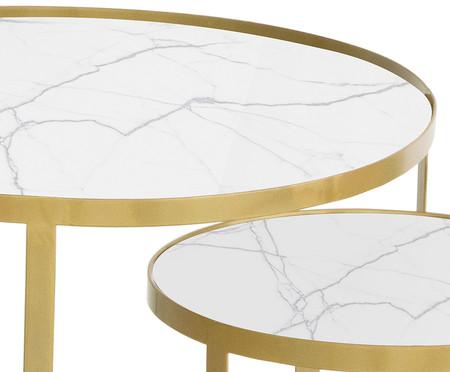Jogo de Mesas Luna - Tundra e Dourado | WestwingNow