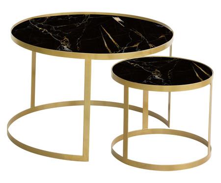 Jogo de Mesas Luna - Nero e Dourado | WestwingNow