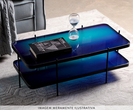 Mesa de Centro Andaime - Gradiente Azul e Preto | WestwingNow