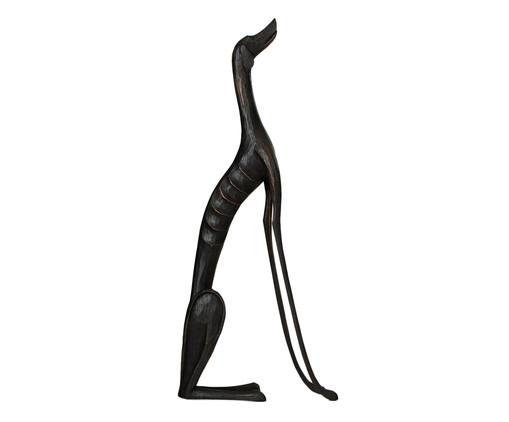 Escultura Cachorro Sentado - Preto, Preta | WestwingNow