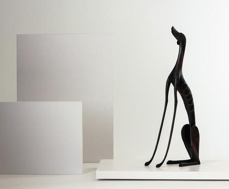 Escultura Cachorro Sentado - Preto | WestwingNow