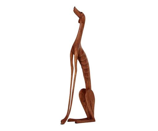 Escultura Cachorro Sentado - Marrom, Marrom   WestwingNow
