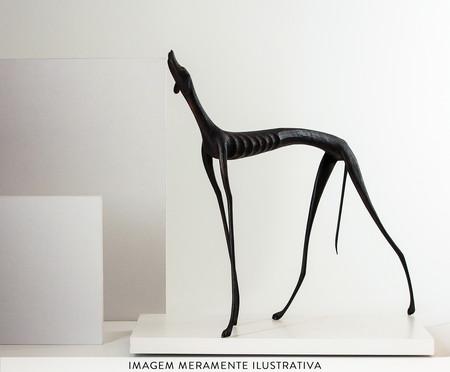 Escultura Cachorro Uivando - Preto | WestwingNow