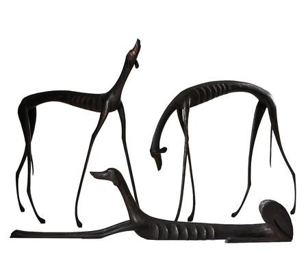 Escultura Cachorro Deitado - Preto | WestwingNow