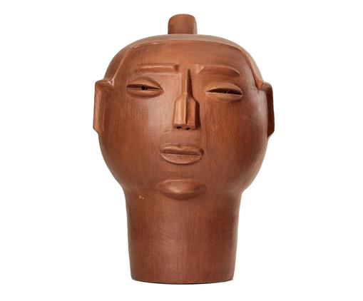 Escultura Cabeça Bimari Sovau, Marrom | WestwingNow