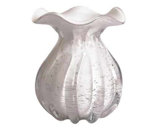 Vaso de Vidro Ré - Branco, Branco | WestwingNow