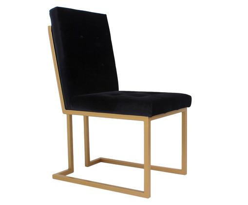 Cadeira em Veludo Prince - Preta, preto | WestwingNow