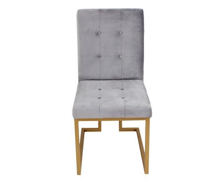 Cadeira em Veludo Prince - Cinza | WestwingNow