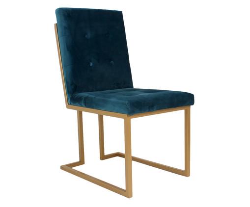 Cadeira em Veludo Prince - Azul, azul | WestwingNow