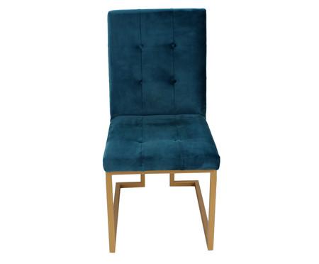 Cadeira em Veludo Prince - Azul | WestwingNow
