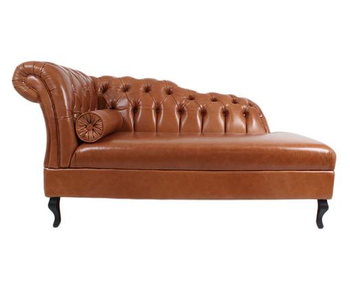Chaise Longue em Couro Samartim - Caramelo, marrom | WestwingNow