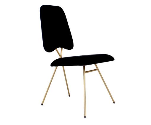 Cadeira em Veludo Londres - Preta, preto | WestwingNow