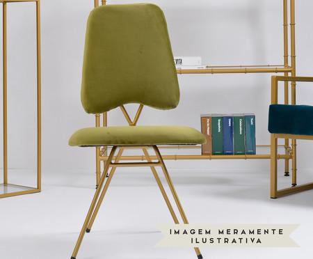 Cadeira em Veludo Londres - Verde | WestwingNow