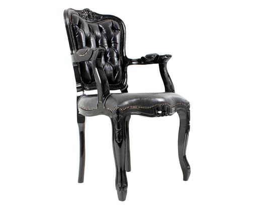Cadeira Ecológica Luis Xv Lamme Capitonê - Preta, preto | WestwingNow