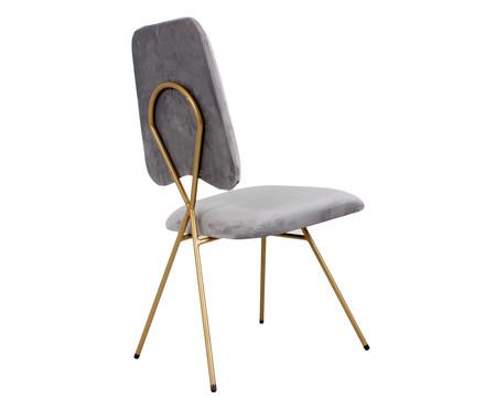 Cadeira em Veludo Londres - Cinza | WestwingNow