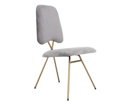 Cadeira em Veludo Londres - Cinza   WestwingNow
