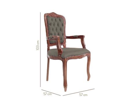 Cadeira Luis XV Telian Capitonê - Verde e Marrom   WestwingNow