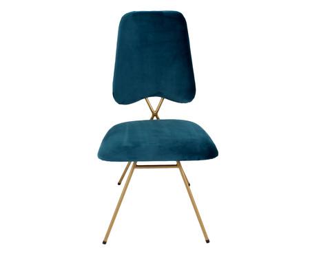 Cadeira em Veludo Londres - Azul | WestwingNow