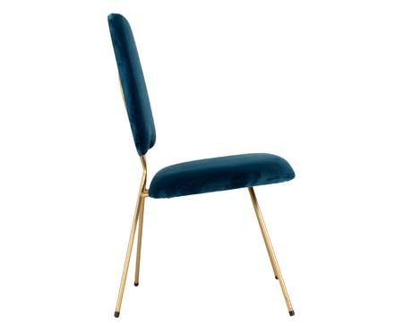 Cadeira em Veludo Londres - Azul   WestwingNow
