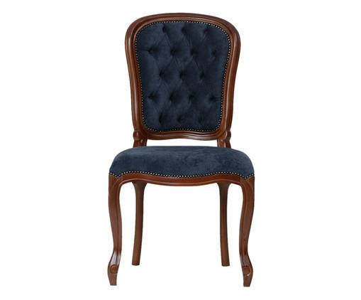 Cadeira Luiz Felipe - Imbuia e Azul, azul | WestwingNow