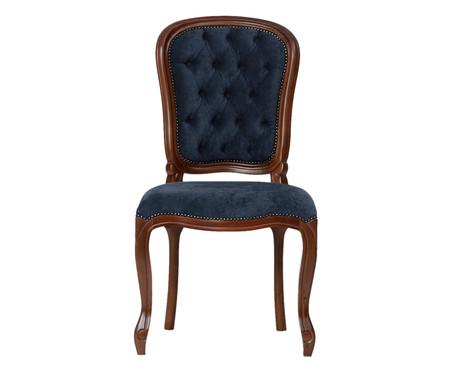 Cadeira Luiz Felipe - Imbuia e Azul   WestwingNow