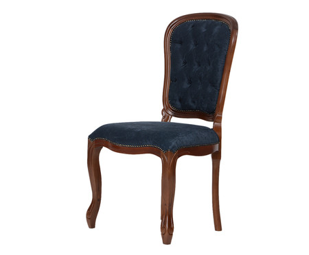 Cadeira Luiz Felipe - Imbuia e Azul | WestwingNow